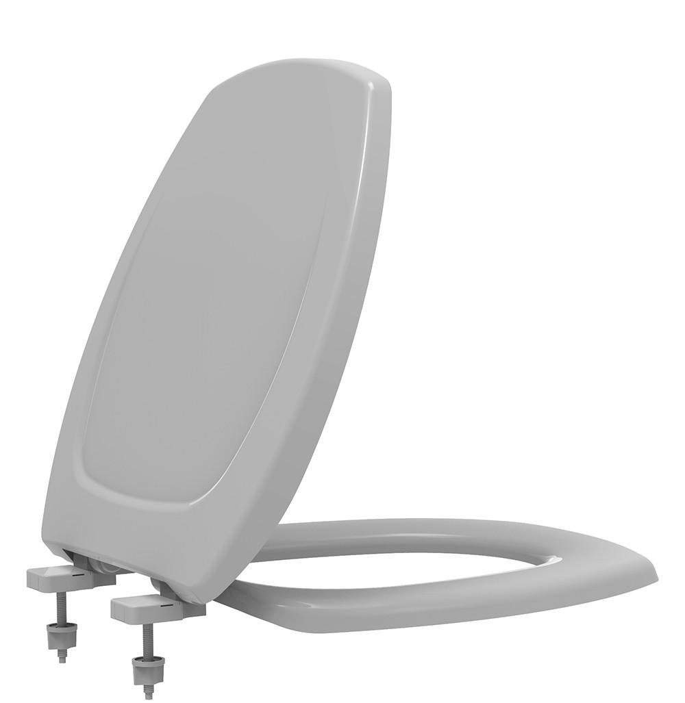 Assento Sanitário Termofixo Soft Close Thema Cinza Platina