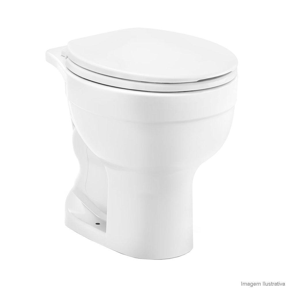 Bacia Convencional sem Abertura Frontal Confort Branco Celite