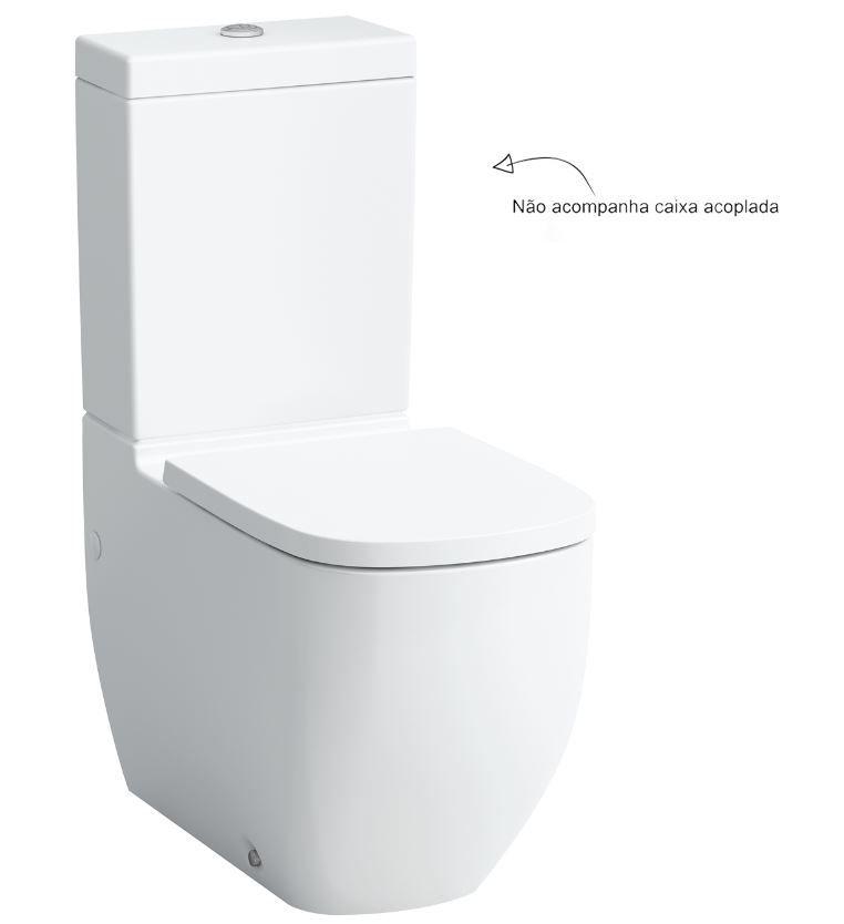 Bacia para Caixa Acoplada Saida Dual Palomba Branco Laufen