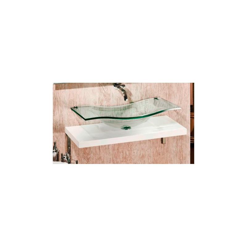 Bancada de Vidro Copacabana Simples 90x42cm 15mm Bergan