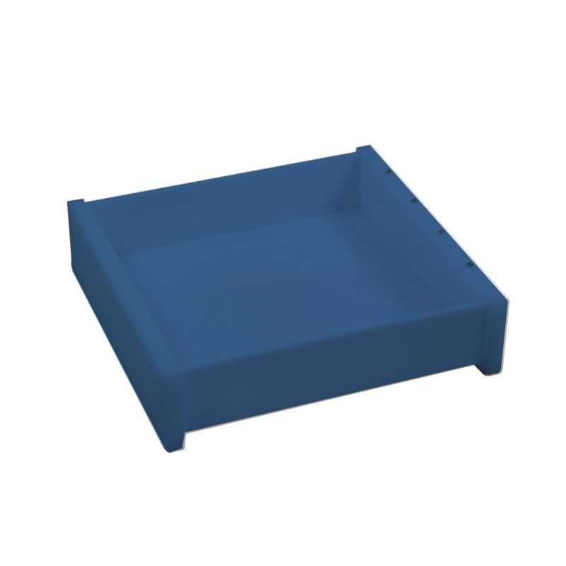 Bandeja Cristal Quadrada Azul Acetinado Decor