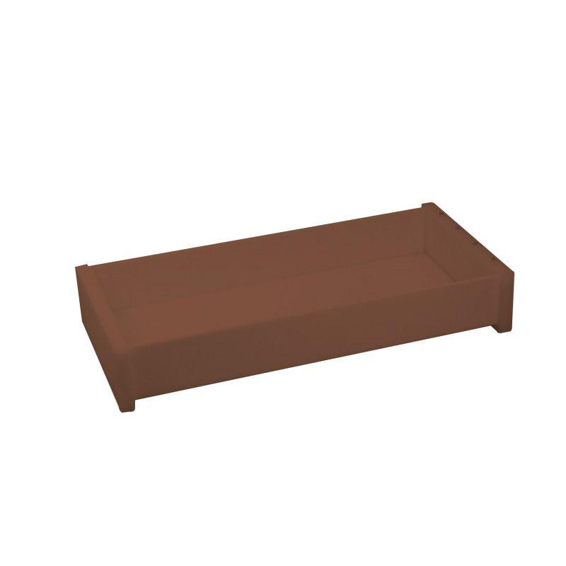 Bandeja Organizadora Retangular Com Strass Cristal Decor Chocolate