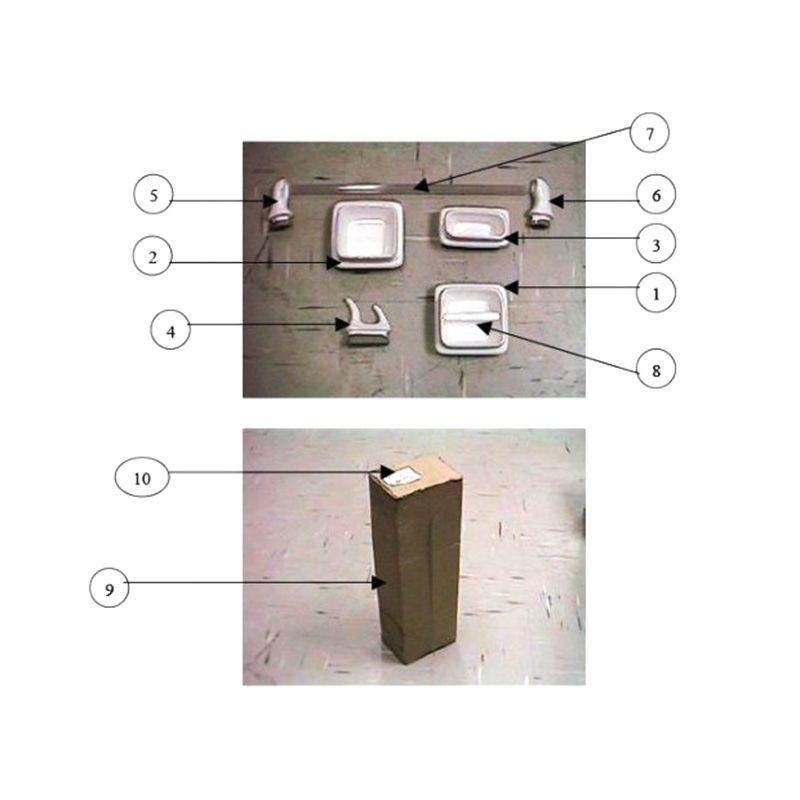 Conjunto 5 peças Acessórios Louça Celite