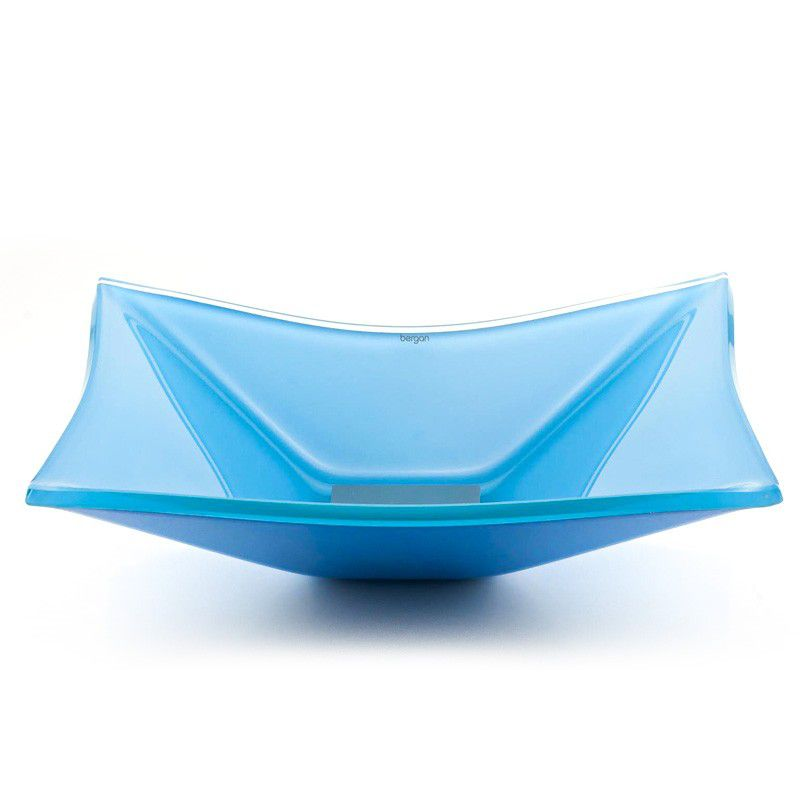 Cuba de Vidro Quadrada Grand Sulle 40x40cm 12 mm Bergan Azul claro