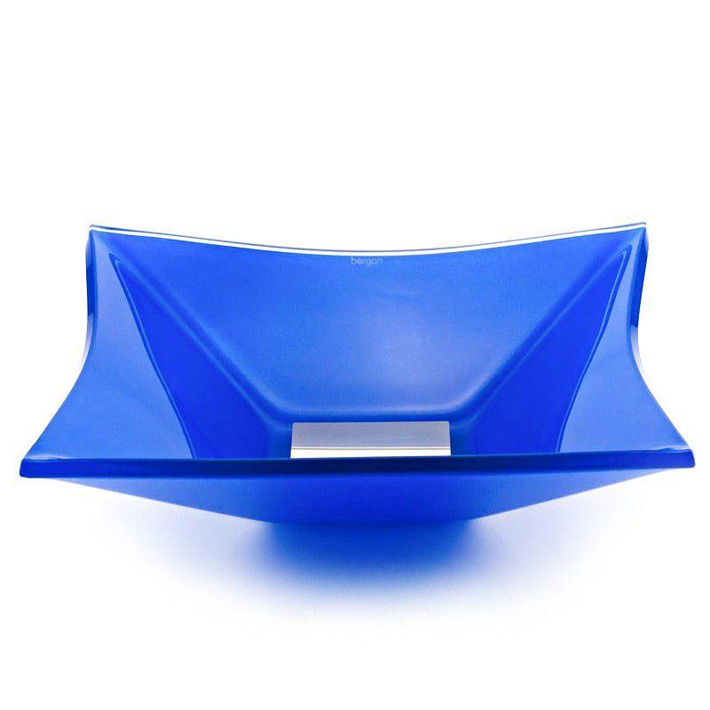 Cuba de Vidro Quadrada Grand Sulle 40x40cm 12 mm Bergan Azul escuro