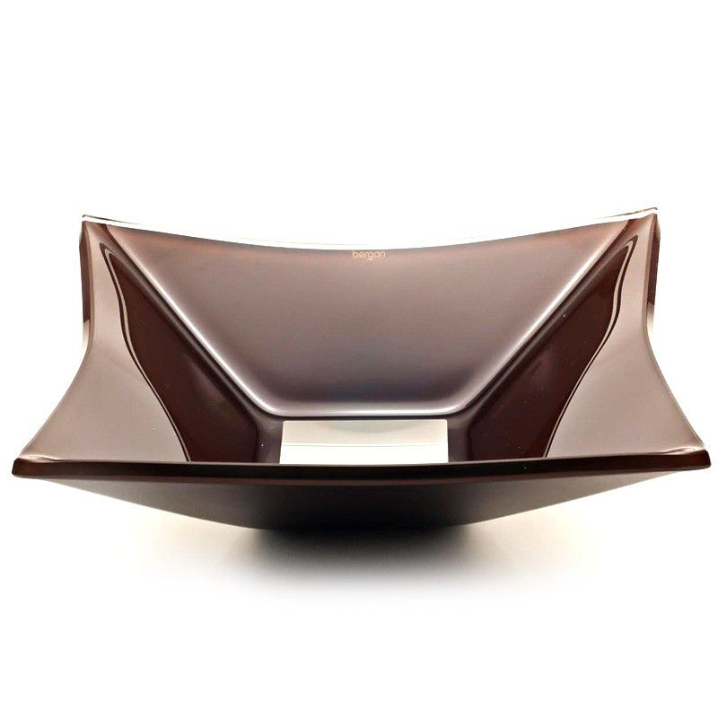 Cuba de Vidro Quadrada Grand Sulle 40x40cm 12 mm Bergan Chocolate
