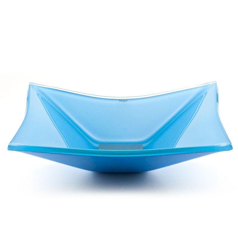 Cuba de Vidro Retangular Grand Sulle 47x36cm 12mm Bergan  Azul claro