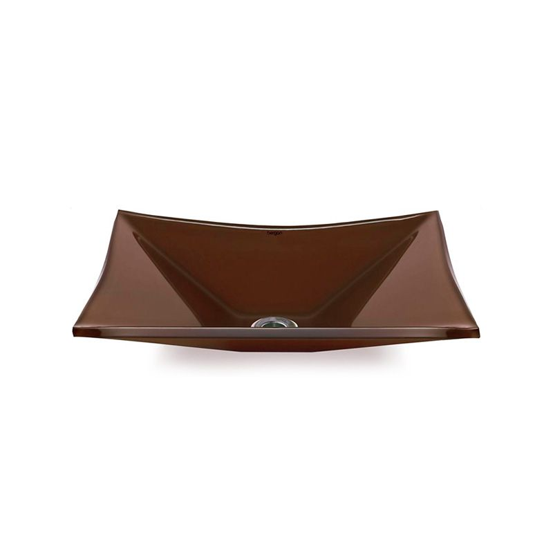 Cuba de Vidro Retangular Sulle 41x31cm 10mm Bergan Chocolate