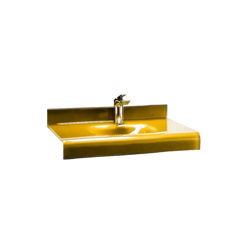 Cuba de Vidro Stetiun 54x46,5cm Bergan Amarelo