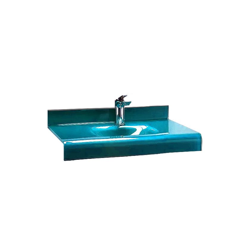 Cuba de Vidro Stetiun 54x46,5cm Bergan Azul claro