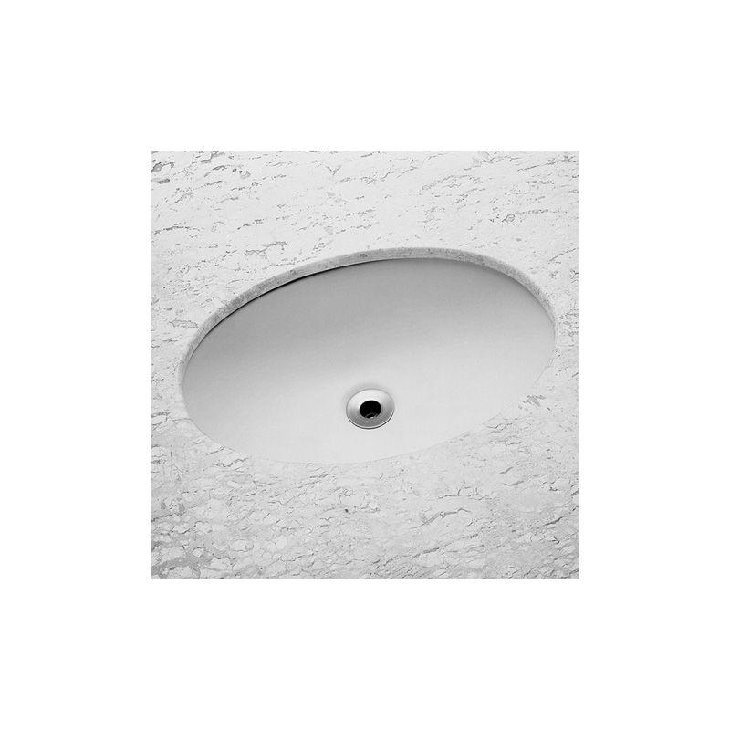 Cuba Oval Embutir 49x32.5cm SL - Celite Cinza