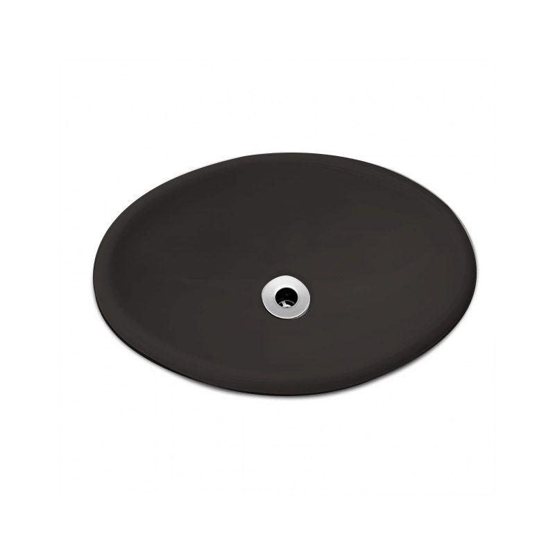 Cuba Oval Sobrepor 44x31cm - Celite Ébano