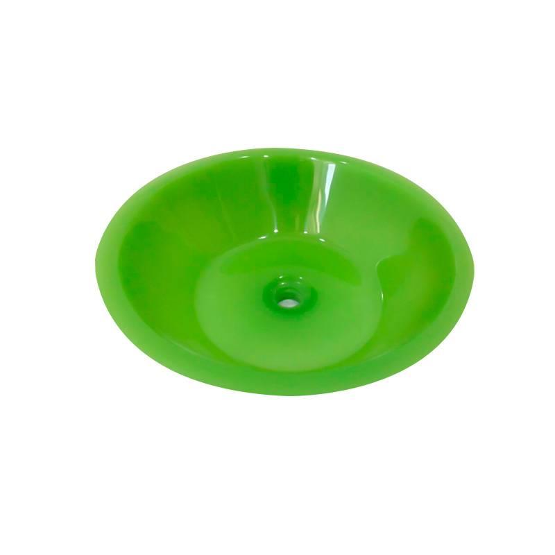 Cuba Poliéster Dalia 37.5X37.5X11cm Verde Trans Sicmol