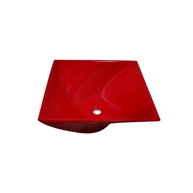 Cuba Poliéster Narciso 34,5x34,5x14cm Vermelho Sicmol