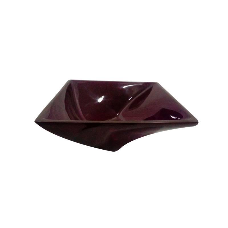 Cuba Poliéster Narciso 34.5X34.5X14cm Violeta Transp Sicmol