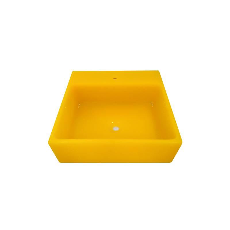 Cuba Poliéster Violeta 2 44X44X14cm Amarelo Trans Sicmol