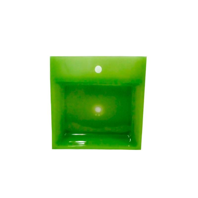 Cuba Poliéster Violeta 2 44X44X14cm Verde Trans Sicmol
