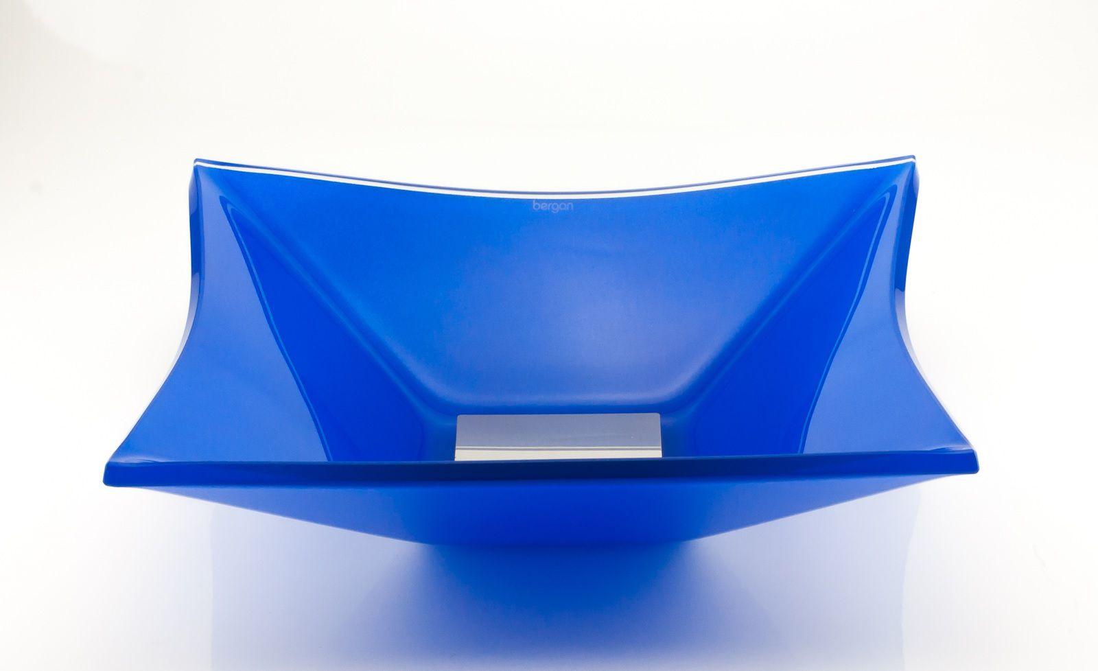 Cuba Sulle Top Quadrada 34x34cm Azul Escuro Bergan