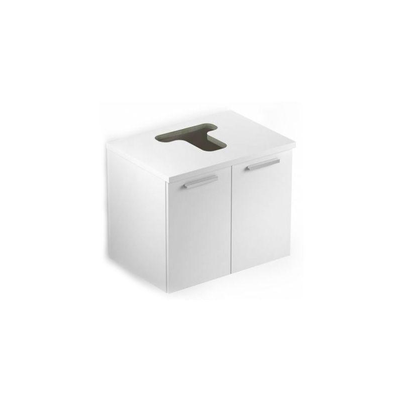 Gabinete Apoio 2 Portas 53x39 com Furo Basic Branco Celite