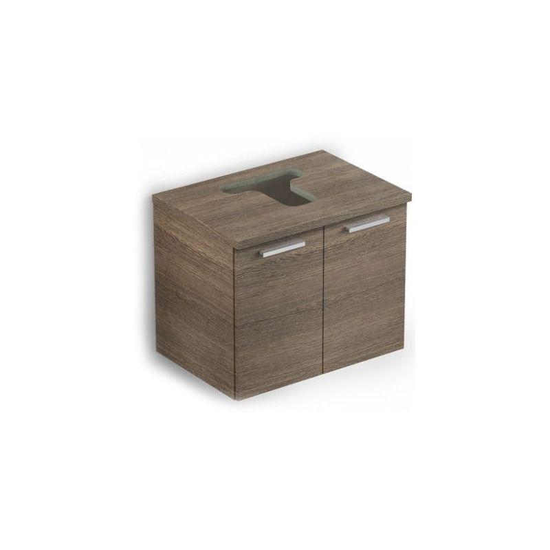 Gabinete Apoio 2 Portas 53x39 com Furo Basic Wengue Celite