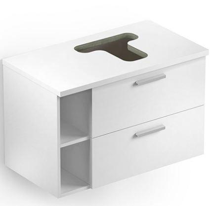 Gabinete Apoio 80x46 Com Furo Basic Branco Celite