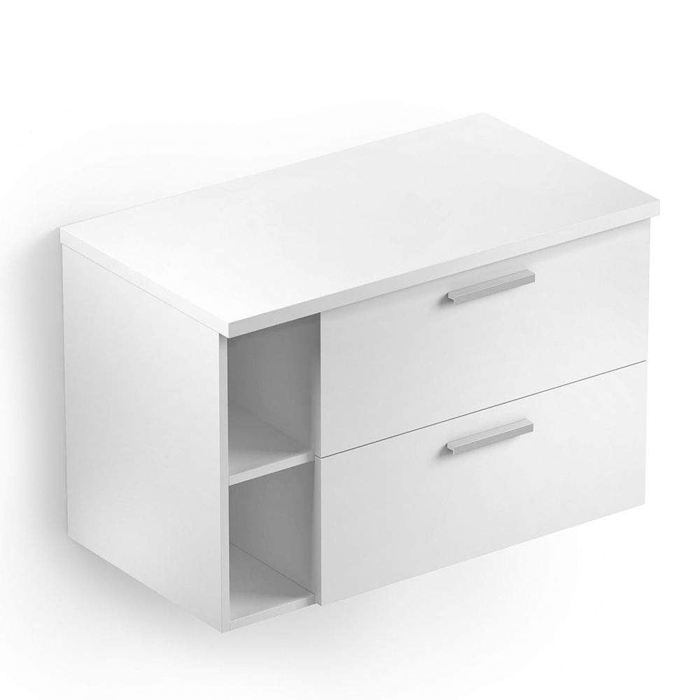 Gabinete Apoio 80x46 sem Furo Basic Branco Celite