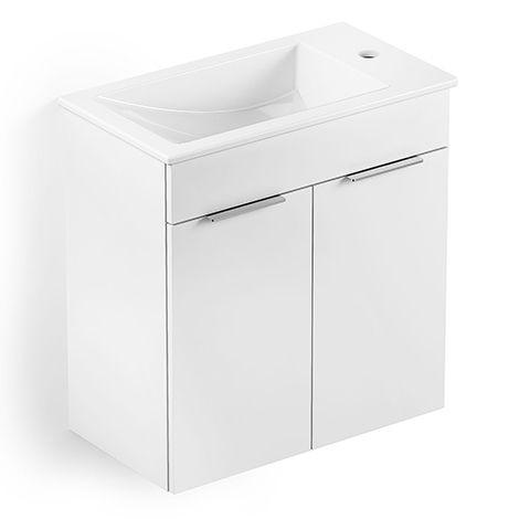 Gabinete Integrado 2 Portas com lavatório Branco Celite