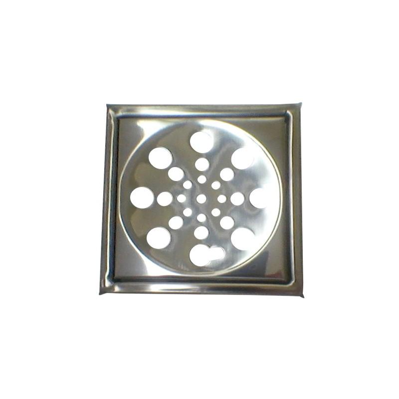 Grelha Quadrada com Caixilho 15cm Aço Inox
