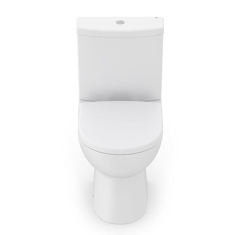 Kit Completo Bacia com Caixa e Assento Termofixo Smart Branco Matte Celite