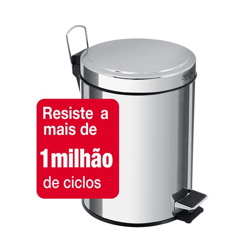 Lixeira Inox Com Pedal Brasil 3 Lit. Tramontina