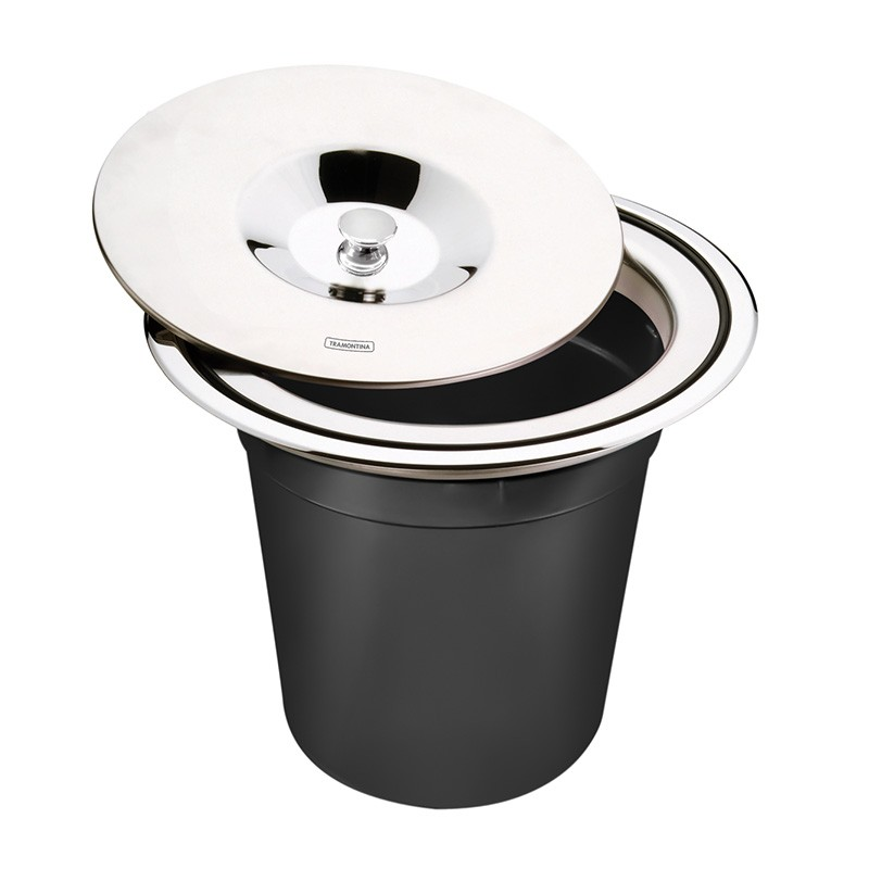 Lixeira Inox De Embutir Clean 5L Tramontina