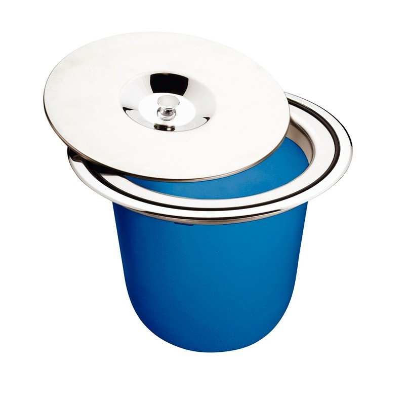 Lixeira Inox De Embutir Clean 8L Tramontina
