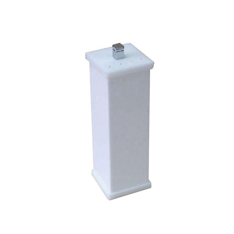 Porta Escova Com Strass Cristal Duo Decor Branco