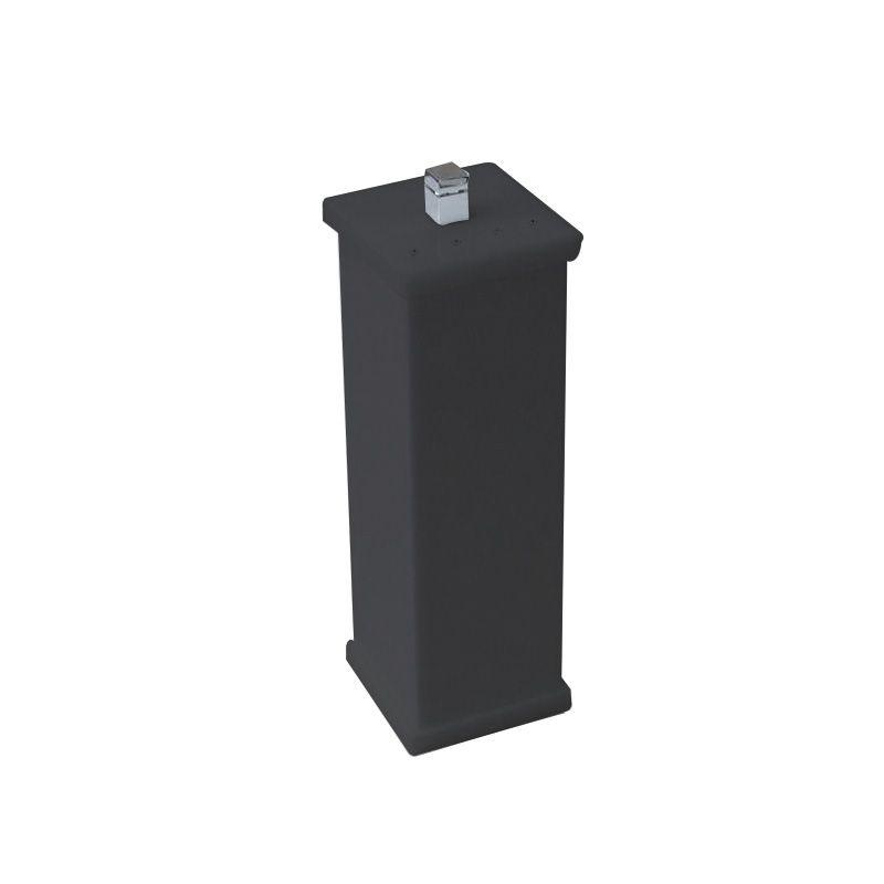 Porta Escova Com Strass Cristal Duo Decor Preto