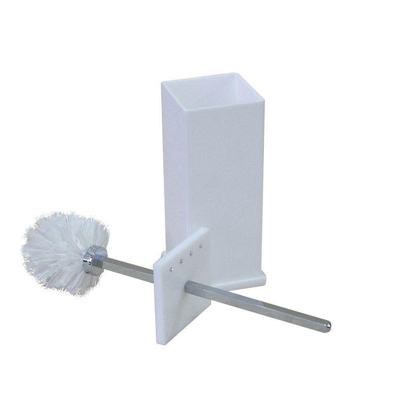 Porta Escova Sanitaria Com Strass Cristal Decor Branco