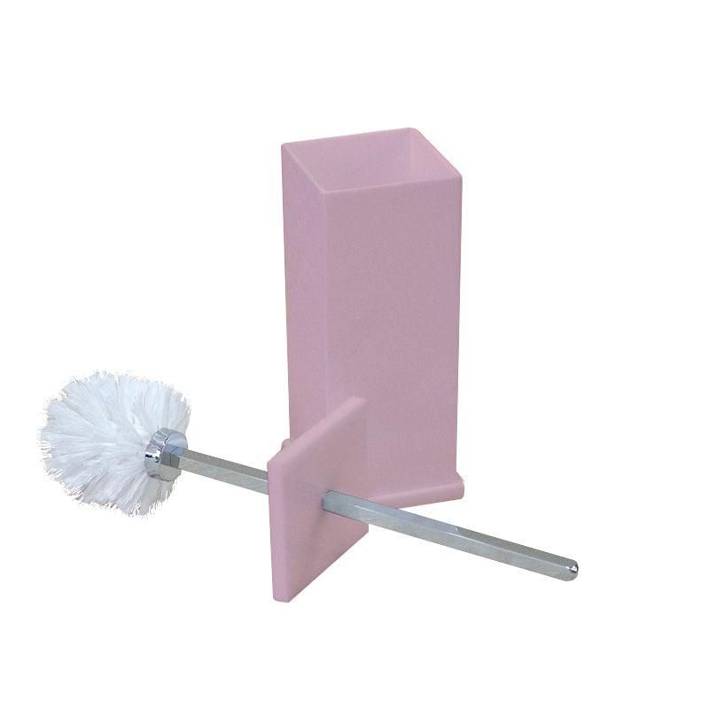 Porta Escova Sanitária Sem Strass Decor Rosa Perolizado