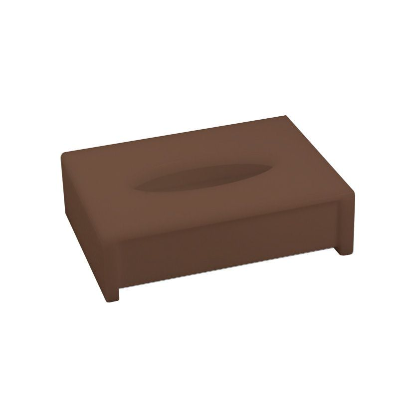 Porta Lenço Oval Sem Strass Decor Chocolate
