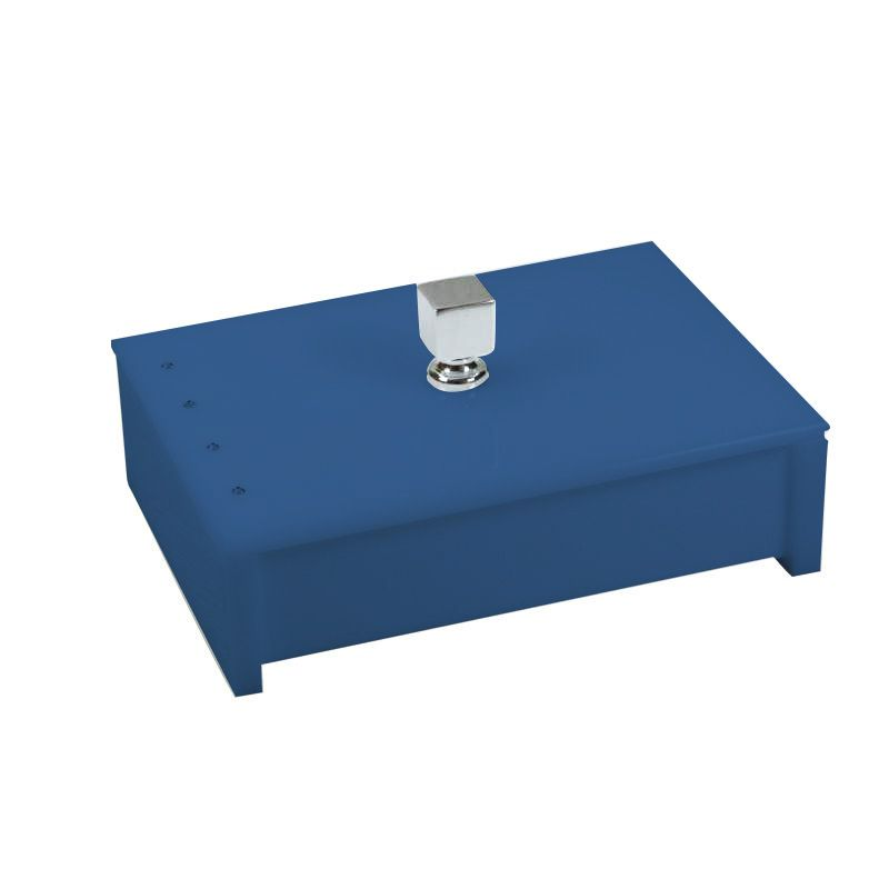 Porta Objeto Cristal Azul Acetinado Decor
