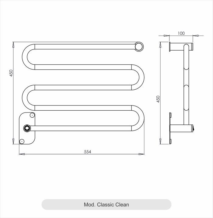 Porta Toalha Aquecido Cativa Classic Clean 220V 65W Branco