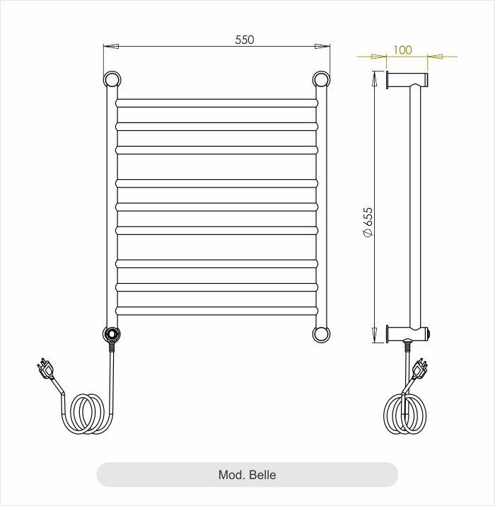 Porta Toalha Aquecido Conceito Belle 220V 100W Inox