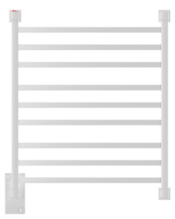 Porta Toalha Aquecido Conceito Luxo Clean 220V 100W Branco