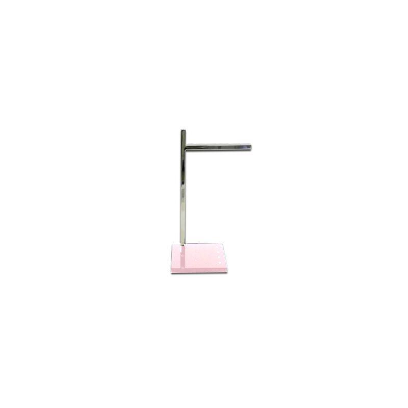 Porta Toalha de Lavabo Com Strass Cristal Decor Rosa Perolizado