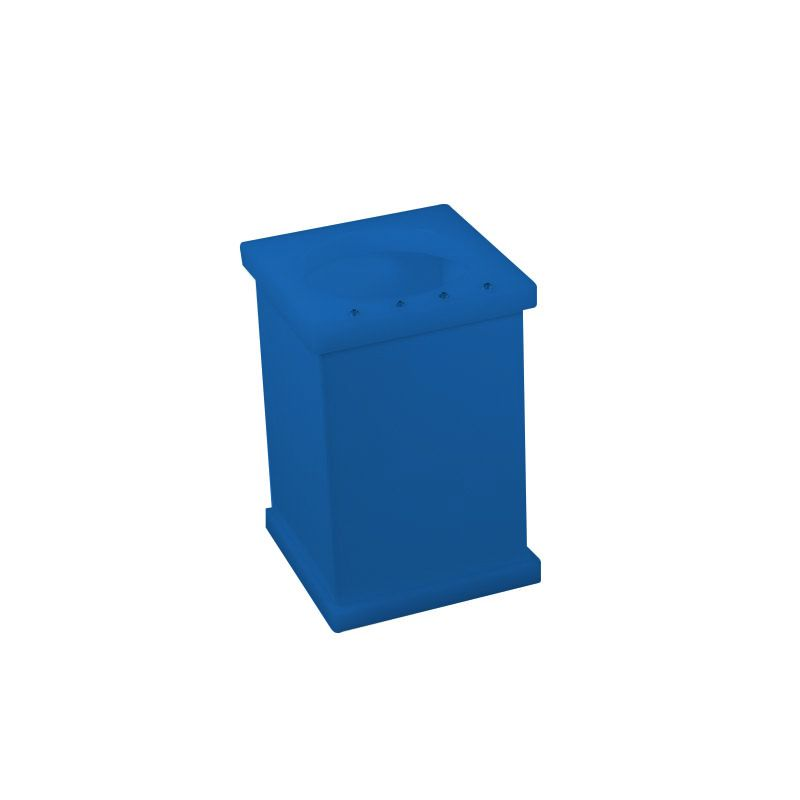 Pote Vazado Cristal Azul Acetinado Decor