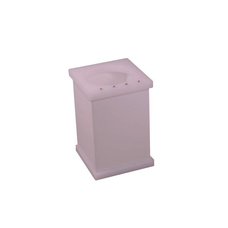 Pote Vazado Com Strass Cristal Decor Rosa Perolizado
