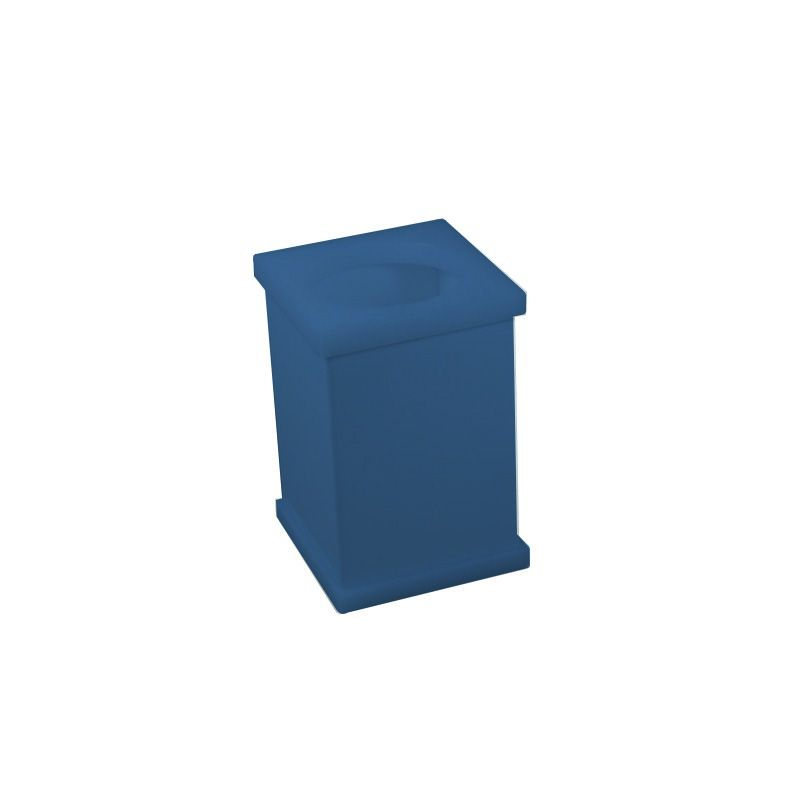 Pote Vazado Azul Acetinado Decor