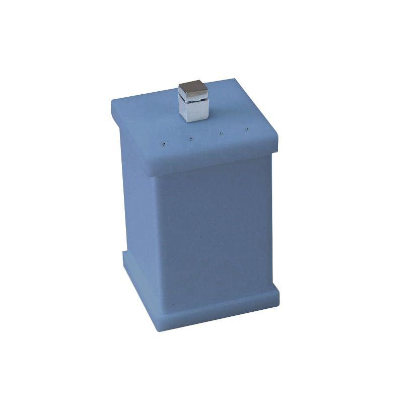 Potinho Cristal Duo Azul Acetinado Decor