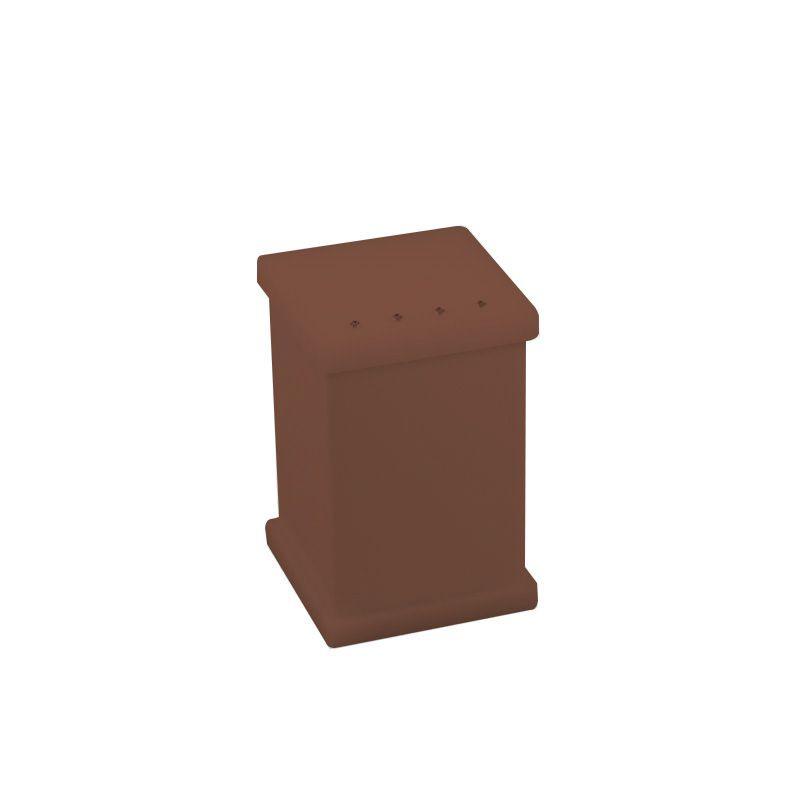 Potinho para Algodão/Cotonete Com Strass Cristal Decor Chocolate