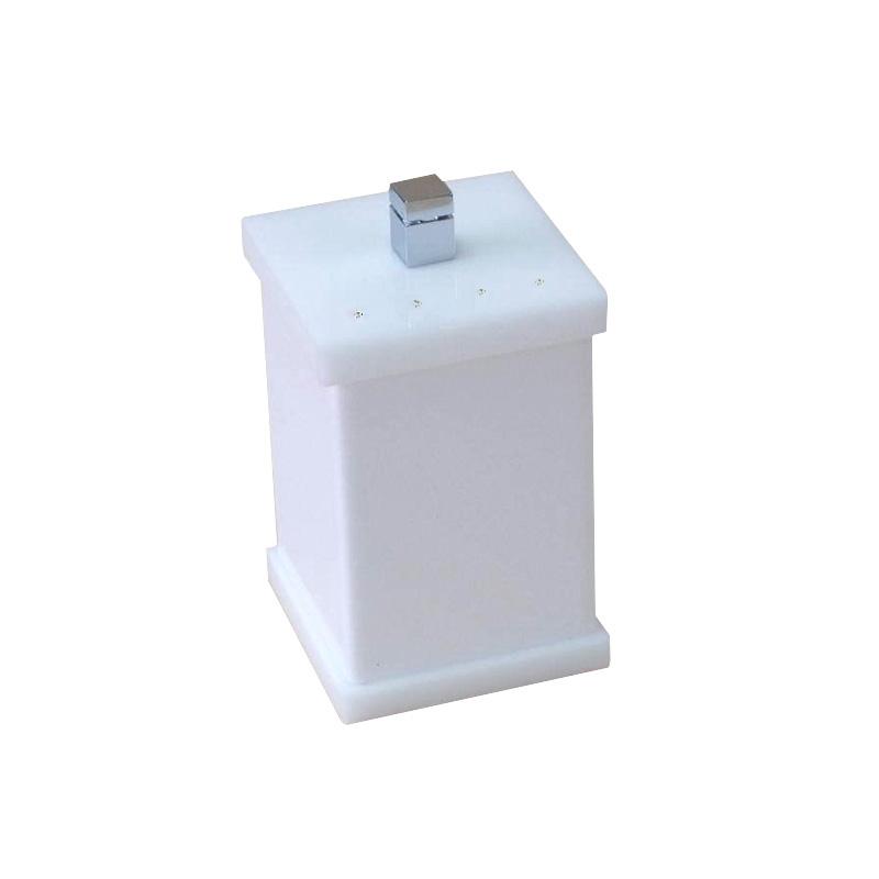 Potinho para Algodão/Cotonete Com Strass Cristal Duo Decor