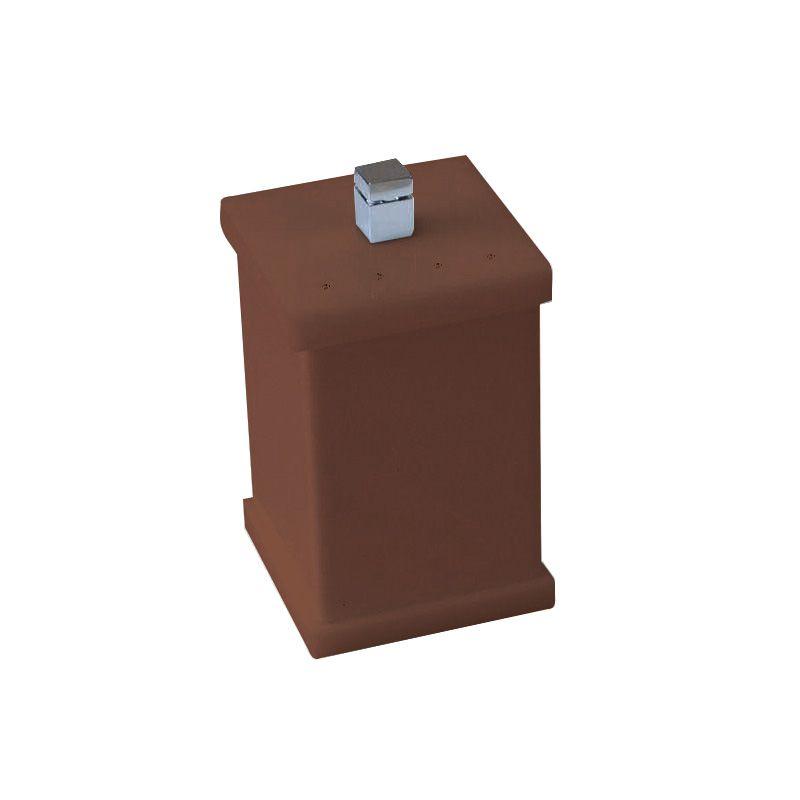 Potinho para Algodão/Cotonete Com Strass Cristal Duo Decor Chocolate