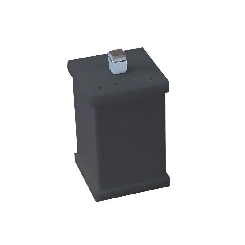 Potinho para Algodão/Cotonete Com Strass Cristal Duo Decor Preto